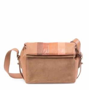 All Saints Casey Leather Suede Crossbody Bag